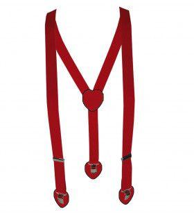 Rode Bretels Met Hartjes