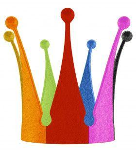 Multicoulour Koning Kroon Regenboog