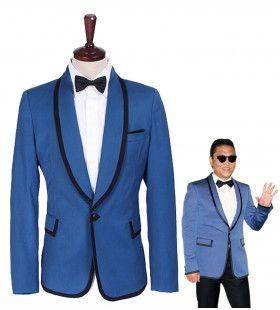 Psy Gangnam Style Jas Mr. Style Blauw Man