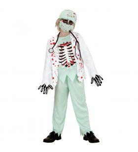 Skelet Zombie Dokter Kind Jongen Kostuum
