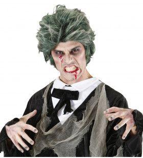 Pruik, Zombie Man Groen Death Dracula