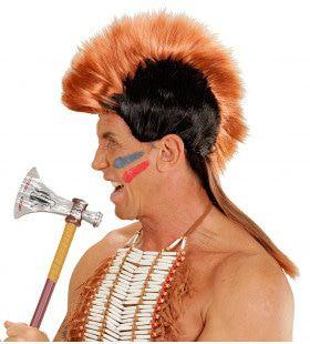 Mohawk Pruik, Indiaan Hanekam