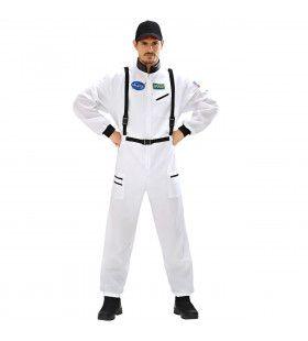 Stoere Astronaut Wit Man Kostuum