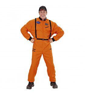Amerikaanse Astronaut Oranje Man Kostuum