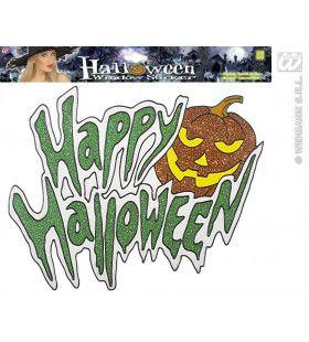 Raamstickers Happy Halloween Pompoen 36cm