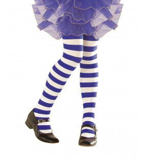 Gestreepte Kinderpanty Wit / Blauw