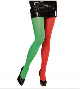 Panty Meerkleurig Rood / Groen Doe Maar