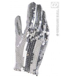 Handschoen (1 Stuk) Zilver Pailletten