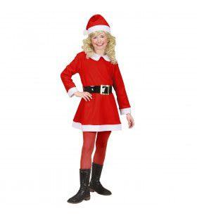 Kerstmeisje Flanel Santa Girl Kostuum