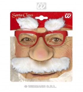 Kerstmanbril + Snor + Wenkbrauwen