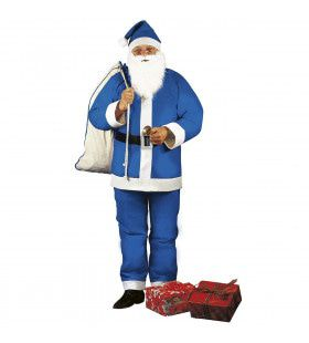 Alternative Santa Blauwe Kerstman Kostuum