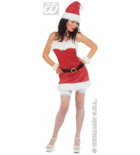 Kerstvrouw Flannel Santa Lady Kostuum
