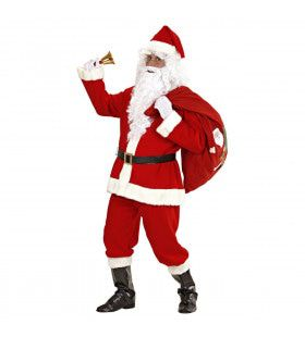 Luxe Uitvoering Kerstman Santa De Luxe Kostuum