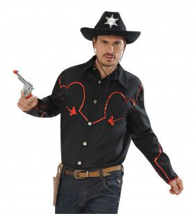 Rodeo Cowboyshirt Met Pailletten Decoratie Man Medium / Large Kostuum