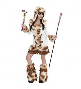 Luxe Bont Indiaans Meisje Weeko Vrouw Kostuum