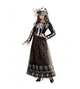Mexicaanse Skeletria Vrouw Kostuum