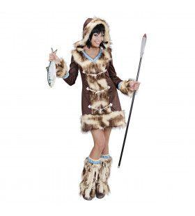 Luxe & Bont Eskimo Meisje Aikaa Vrouw Kostuum