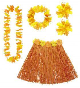 Hula Hula Hawaii Set Oranje