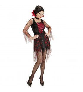 Doorzichtig Spiderweb Vampier Vrouw Kostuum
