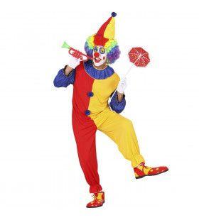 Vrolijke Clown Bicolour Kostuum Man