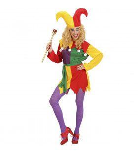 Hofnar Jolly Joker Kostuum Vrouw