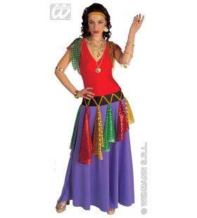Kleurrijke Zigeunerin Kostuum Vrouw