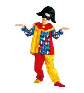 Kleurrijke Harlekijn Kind Kostuum Kind