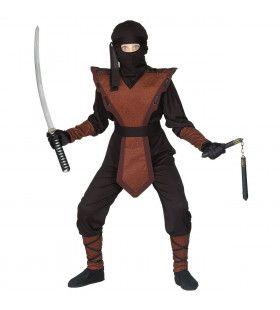 Bruine Ninja Rover Kostuum Jongen