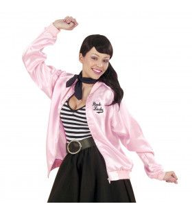 Dames Jasje Satijn Pink Lady Vrouw Kostuum