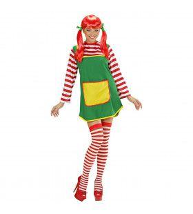 Ondeugende Pippie Kostuum Vrouw