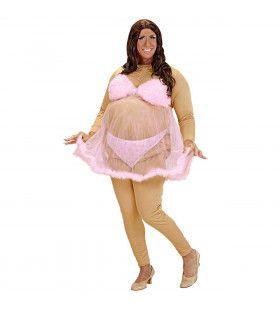 Travestiet Vette Stripper Kostuum Man