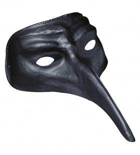 Commedia Dellarte Venetiaans Masker, Zwart
