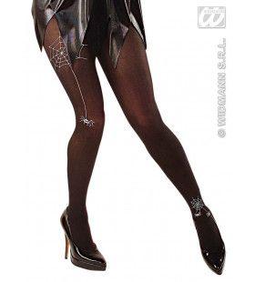 Panty, Zwart Met Spin En Spinneweb