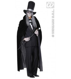 Zwarte Cape Fluweel 145cm Kostuum