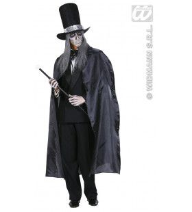 Zwarte Cape 130cm Kostuum