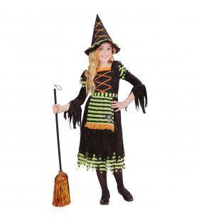 Kleurige Heks Kind Meisje Kostuum