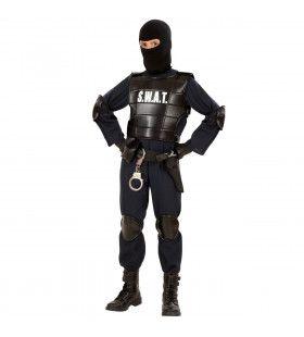 Officieel S.w.a.t. Officier, Jongen Kostuum