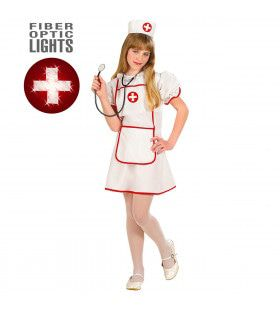 Echte Verpleegster Meisje, Fiberoptisch Kostuum
