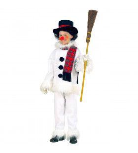 Grappige Sneeuwman Kind, Flanel & Pluche Kostuum