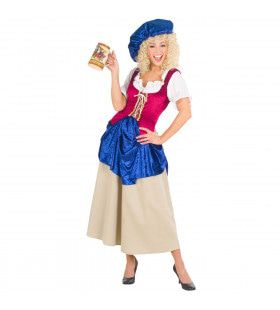 Duitse Boerin Middeleeuwen Kostuum Vrouw