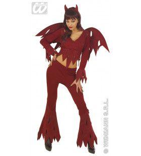 Woeste Duivel Horror Wings Kostuum Vrouw