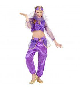 Paars Arabisch Meisje Belly Dancer Kostuum