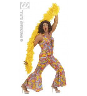 Travestiet Mannelijk 70s Funky Chick XL Kostuum