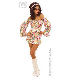 Cutie Seventies Dancing Beauty Kostuum Vrouw