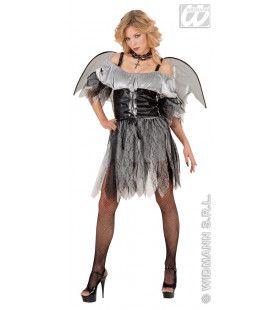Grijs / Zwarte Engel Rock Angel Kostuum Vrouw