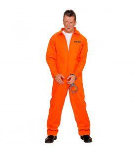 Gevangene Oranje Kostuum Man