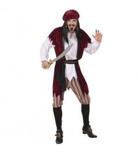 Carribische Piraat Jack Sparrow Kostuum Man