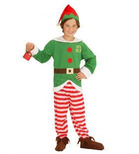 Elf Boy Kerstmans Kleine Helper Jongen Kostuum Test
