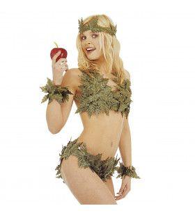 Eva Set Van Bladeren Vrouw Kostuum