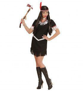 Chadaka Indiaanse Zwart Vrouw Kostuum